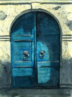 Old blue doors by Medhi
