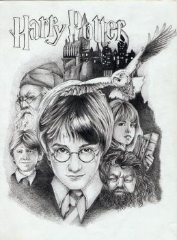 Harry Potter poster 1 by Megneoulie