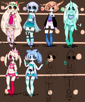 Adoptables Batch #23 ( #2 AND 4 OPEN/PRICE LOWERED by OniichanAdopts