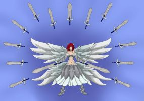Erza scarlet heaven`s wheel armor (Color version) by bastiaandegoede