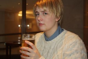 John Watson- at the pub by LollypopL
