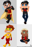 Young Justice: Chibi Boys by InsaneMonkey46