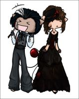 Sweeney Todd and Ms. Lovett by Alinedra