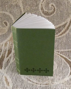 green stitches unlined journal by yatsu