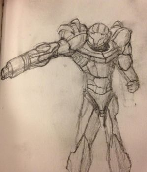Varia Suit Samus Sketch by SuperpowerOfTeamwork