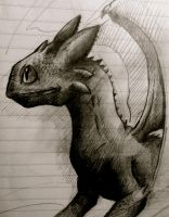 Toothless Sketch by Okojo1
