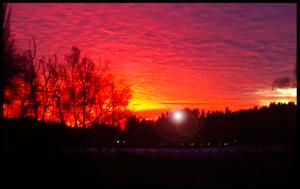 Sky on Fire by VictoriaChen