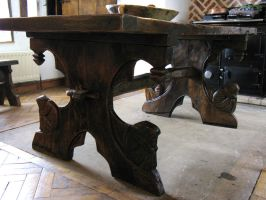 viking medieval oak table by oakviking