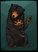 Rising Sun Bear by Kerrzai