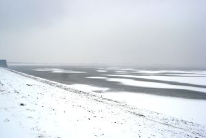 Lake in winter by Polin-Sam