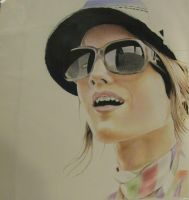 colored pencil girl by kc7655