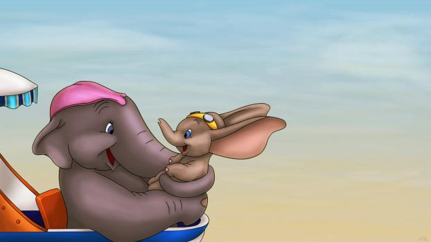 Dumbo and Mother by JessiD303