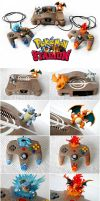 Pokemon Stadium Nintendo 64 - Custom Painted by The-Vintage-Realm