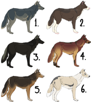 Canine Adoptables [CLEARING] 1 POUND each (OPEN) by Akaiia