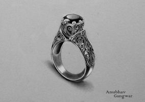 Onyx Ring (Completed) by Anubhavg