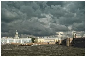 the quay in St. Petersburg by sunny-sunflower