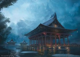 The Majestic Temple by najtkriss
