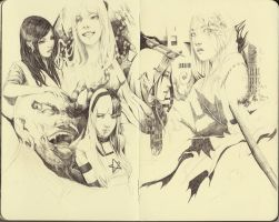 Moleskine Pencil Faces Practice by FinalKnight6