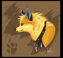 Fox head by VengefulSpirits