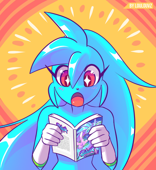 Spaicy reading Spaicy comic by LoulouVZ