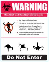 Headcrab warning sign by Koldmilk