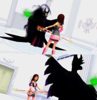 Kairi VS Maleficent by todsen19