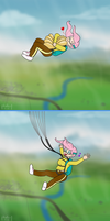 Air Ponyville: Fluttershy Loves Her Parachute by phallen1