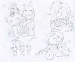 Commish: Olimar and Louie by Nintendrawer