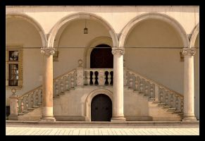 Stereo... - Stairways In Wavel Castle In Cracow by skarzynscy