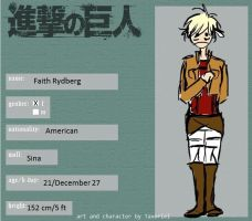 Snk Oc For Roleplay Group -- Faith by Tavoriel