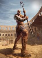 Gladiator by rainerpetterart