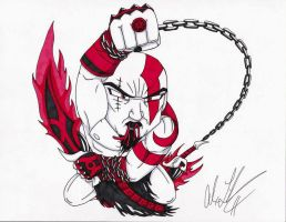 Red Lantern Kratos by toonartist