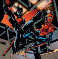spidergirl vs batman beyond by kalulu77