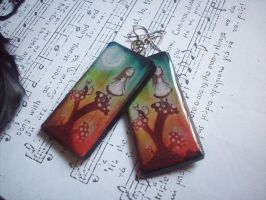 Alice and Cheshire Earrings by ChrisOnly