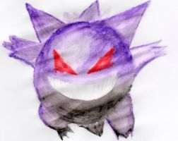 Abstract Dark Gengar by UneQuintessence
