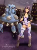 Ghost in the Shell Motoko by SteveMillersArt
