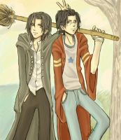best mates    SIRIUSandJAMES by saucywench