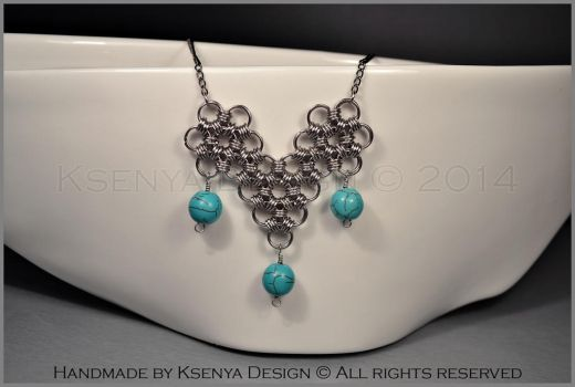 Howlite Necklace by KsenyaDesign