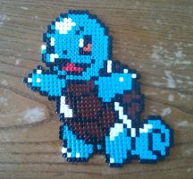 Pokemon - Squirtle made from Pyssla beads by yolei-s