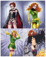 Jean Grey Sketch Cards by AllisonSohn