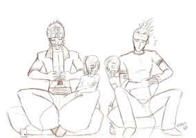 Renji and Grimmjow gamers by feerl