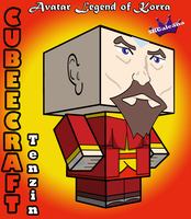 3D Cubeecraft Tenzin from Avatar Legend of Korra by SKGaleana