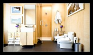 Bathroom Interior by nickick