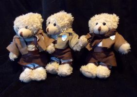 Eren and Mikasa Bears by AbleSistersFanCrafts