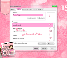 Cursor pink and white by tutosliz