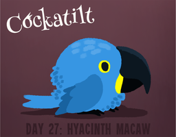 Birdstarter Day 27: Hyacinth Macaw by Furrama