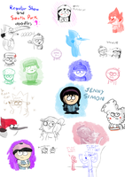 Regular Show and South Park doodles 9 by LotusTheKat
