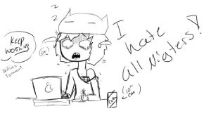 working all night by Ask-Madeline-the-lam