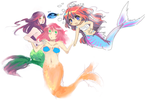 MERMAID COLLAB by rie-yun