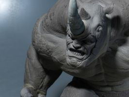 Rhino Sculpture 2 by loqura